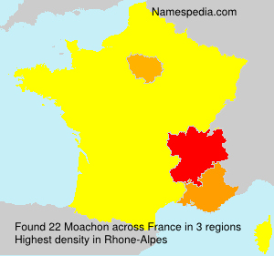 Surname Moachon in France