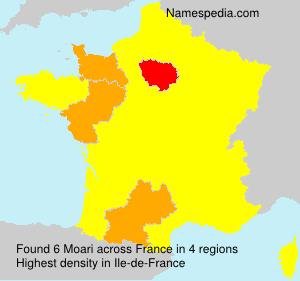 Familiennamen Moari - France