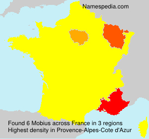 Surname Mobius in France