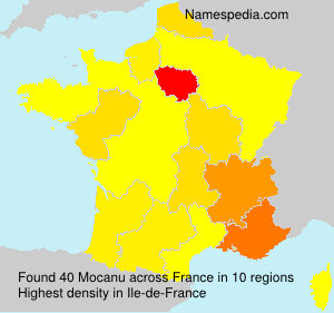 Surname Mocanu in France