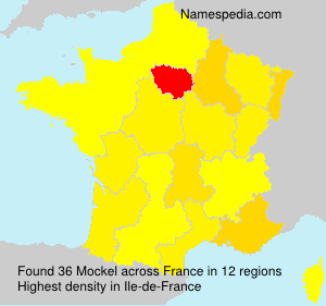 Surname Mockel in France
