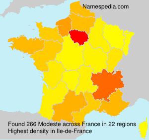 Surname Modeste in France