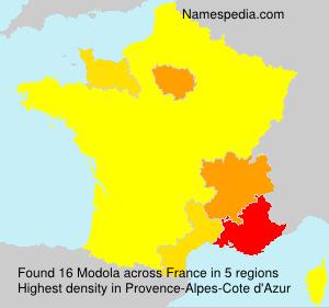 Surname Modola in France