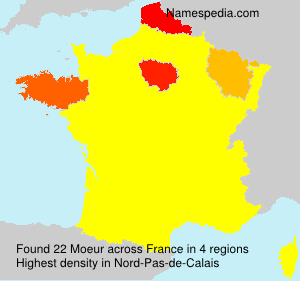 Surname Moeur in France