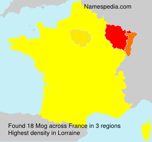 Familiennamen Mog - France