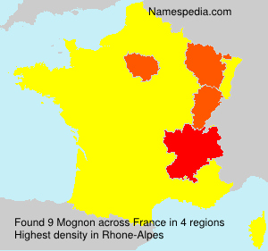 Surname Mognon in France