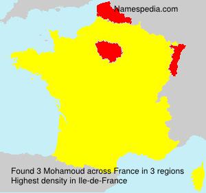 Surname Mohamoud in France