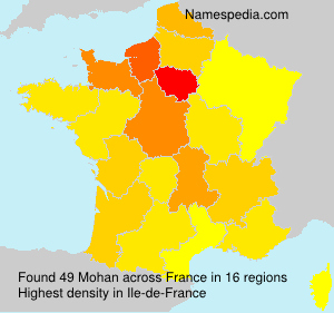 Surname Mohan in France