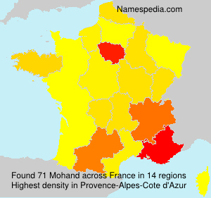 Surname Mohand in France