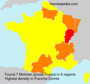Surname Mohnen in France