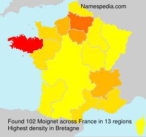 Surname Moignet in France