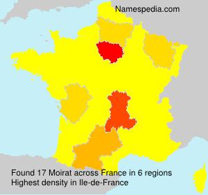 Familiennamen Moirat - France