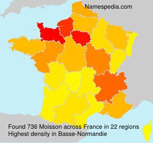 Familiennamen Moisson - France