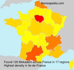 Surname Mokadem in France