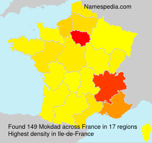 Surname Mokdad in France