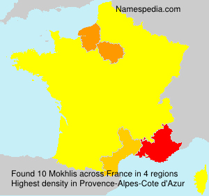 Surname Mokhlis in France