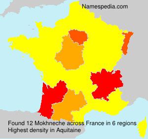 Surname Mokhneche in France