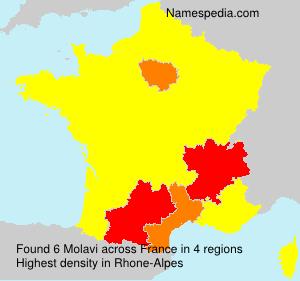 Surname Molavi in France