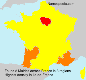 Surname Moldes in France