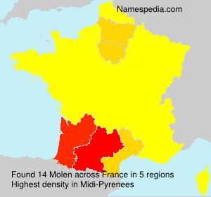 Surname Molen in France
