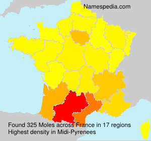 Surname Moles in France