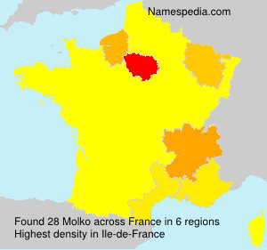 Surname Molko in France