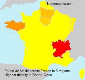 Surname Mollie in France