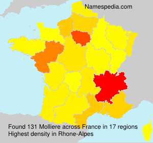 Surname Molliere in France