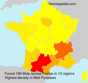 Surname Moly in France