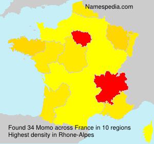Surname Momo in France
