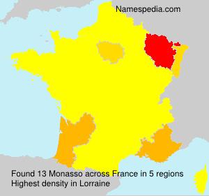 Surname Monasso in France