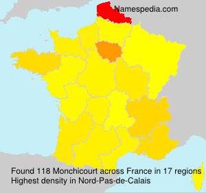 Surname Monchicourt in France