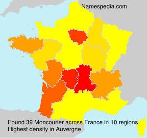 Surname Moncourier in France