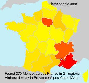 Surname Mondet in France