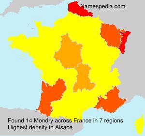 Surname Mondry in France