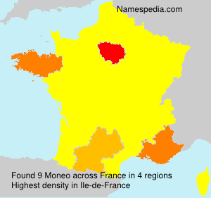 Surname Moneo in France