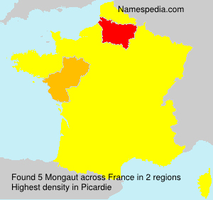 Surname Mongaut in France