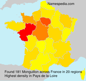 Surname Monguillon in France
