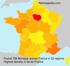 Familiennamen Monique - France