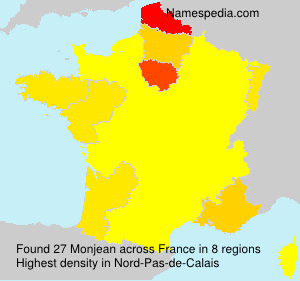 Familiennamen Monjean - France