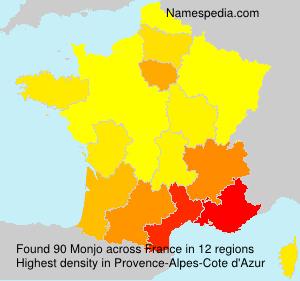 Familiennamen Monjo - France