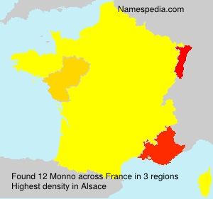 Surname Monno in France