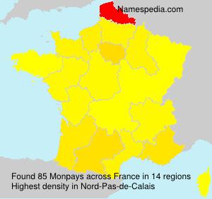 Surname Monpays in France