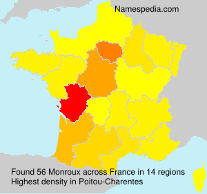 Surname Monroux in France