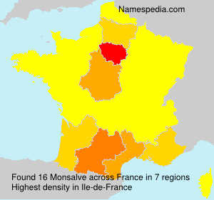 Surname Monsalve in France
