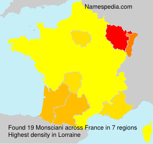 Surname Monsciani in France