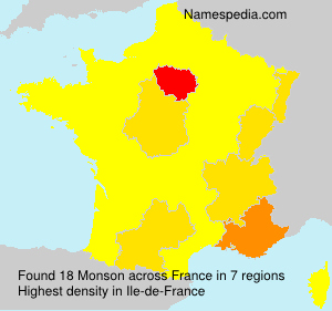 Surname Monson in France