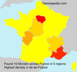 Surname Monstin in France