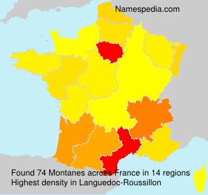 Familiennamen Montanes - France