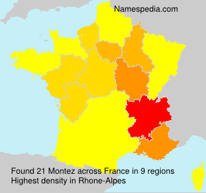 Familiennamen Montez - France